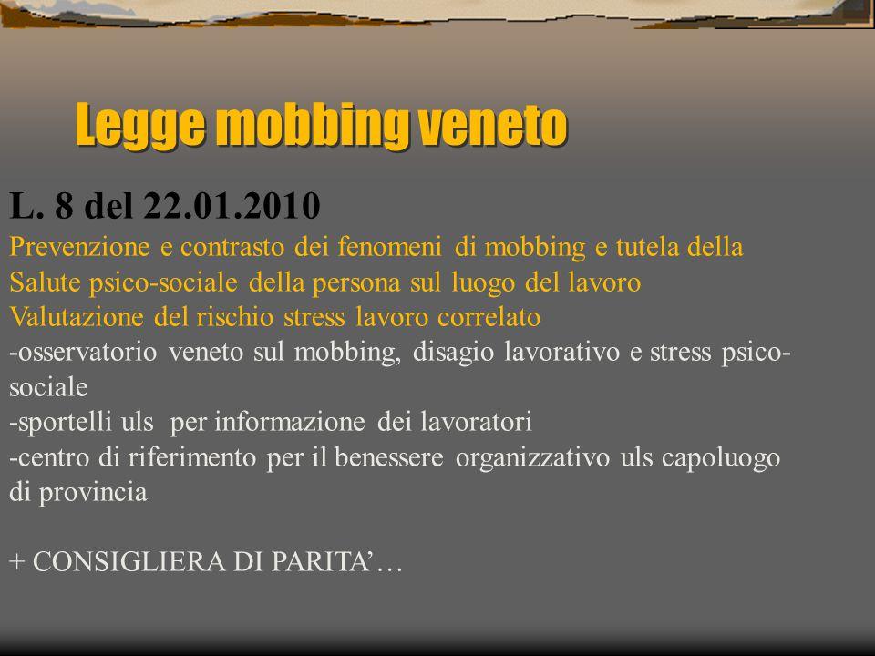 Legge mobbing veneto L.