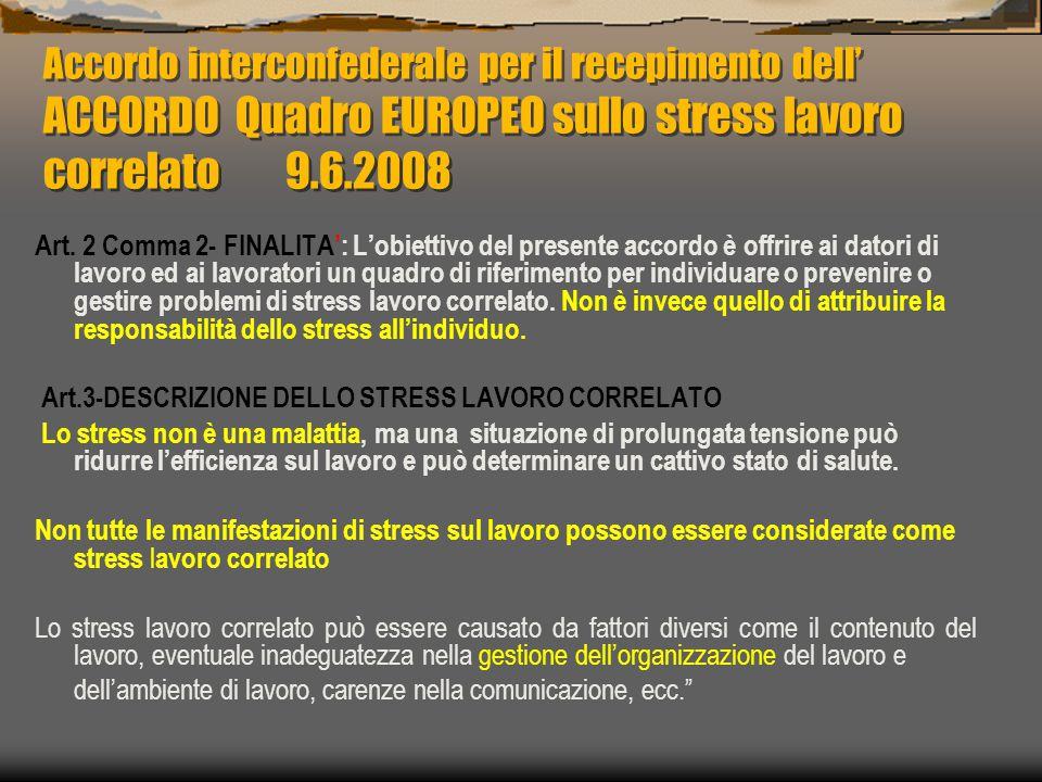 2 Informazione dei lavoratori 3 Valutazione 4 Pianificazione interventi 5 Attuazione interventi 6 Verifica 1 Raccolta dati organizzativi Giusto processo di valutazione del rischio stress