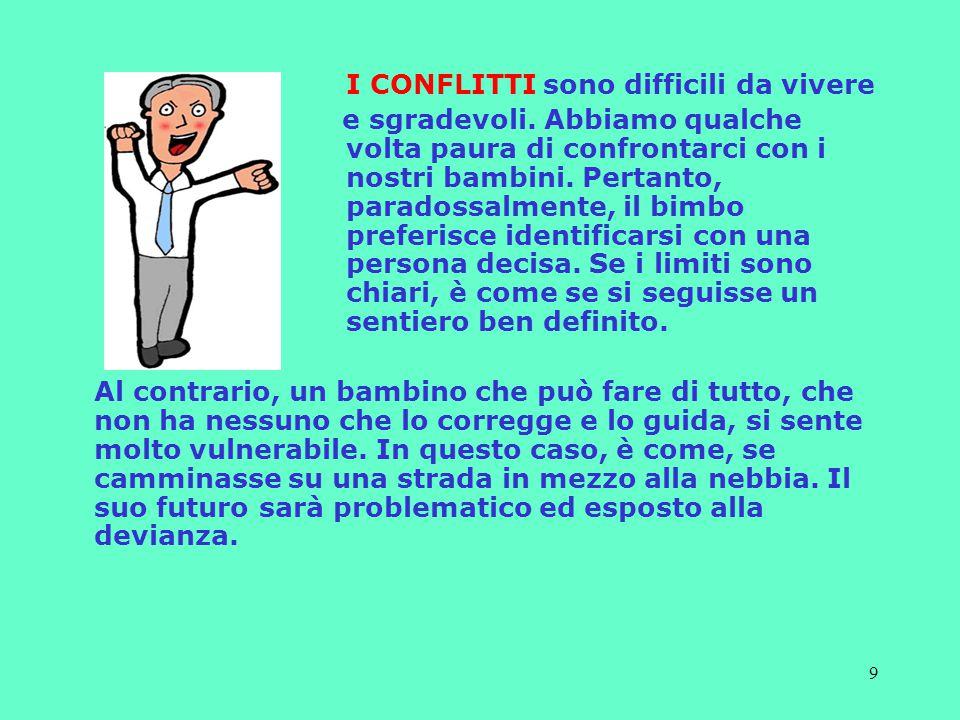 9 I CONFLITTI sono difficili da vivere e sgradevoli.