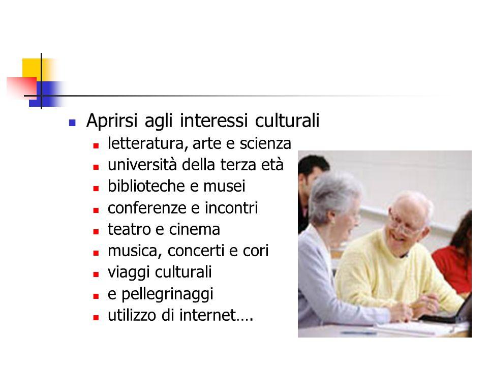 Aprirsi agli interessi culturali letteratura, arte e scienza università della terza età biblioteche e musei conferenze e incontri teatro e cinema musi