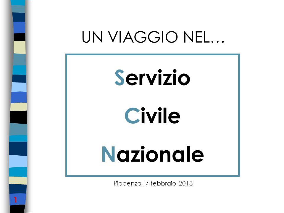 UN VIAGGIO NEL… Piacenza, 7 febbraio 2013 1 Servizio Civile Nazionale