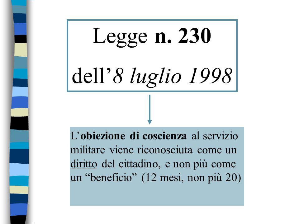 Legge n. 64 del 6 maggio2001 Servizio Civile Nazionale