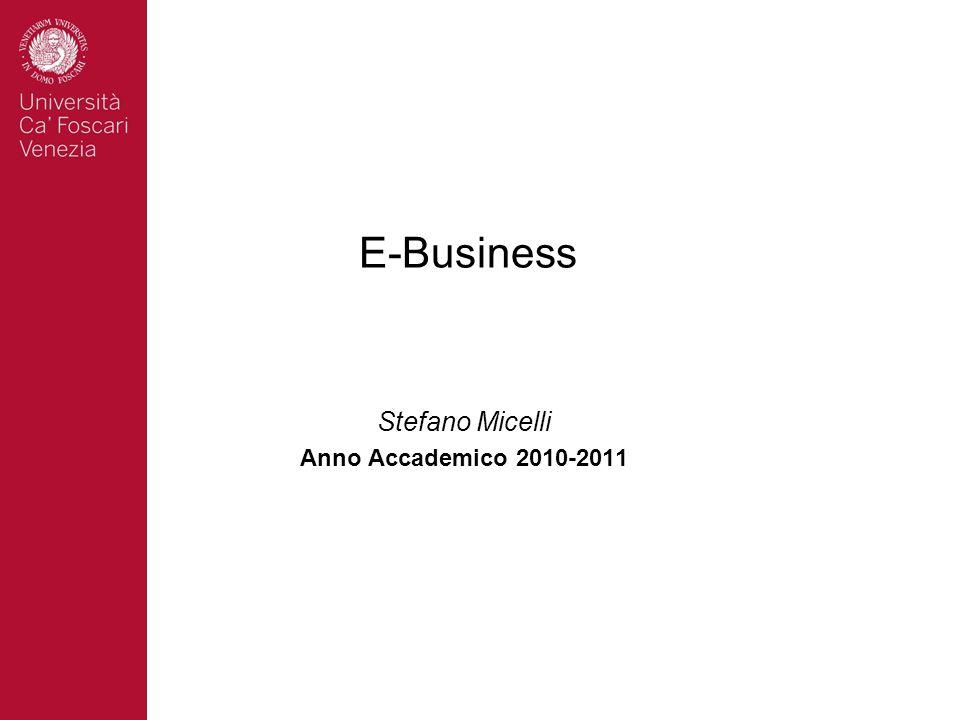 E-Business Stefano Micelli Anno Accademico 2010-2011