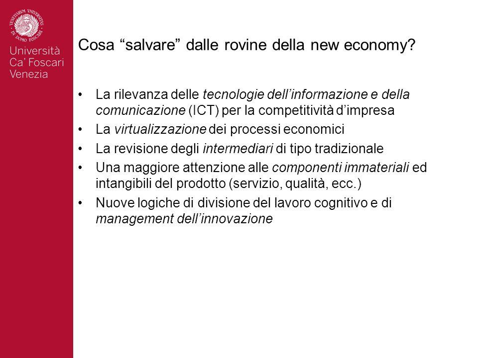 """Cosa """"salvare"""" dalle rovine della new economy? La rilevanza delle tecnologie dell'informazione e della comunicazione (ICT) per la competitività d'impr"""