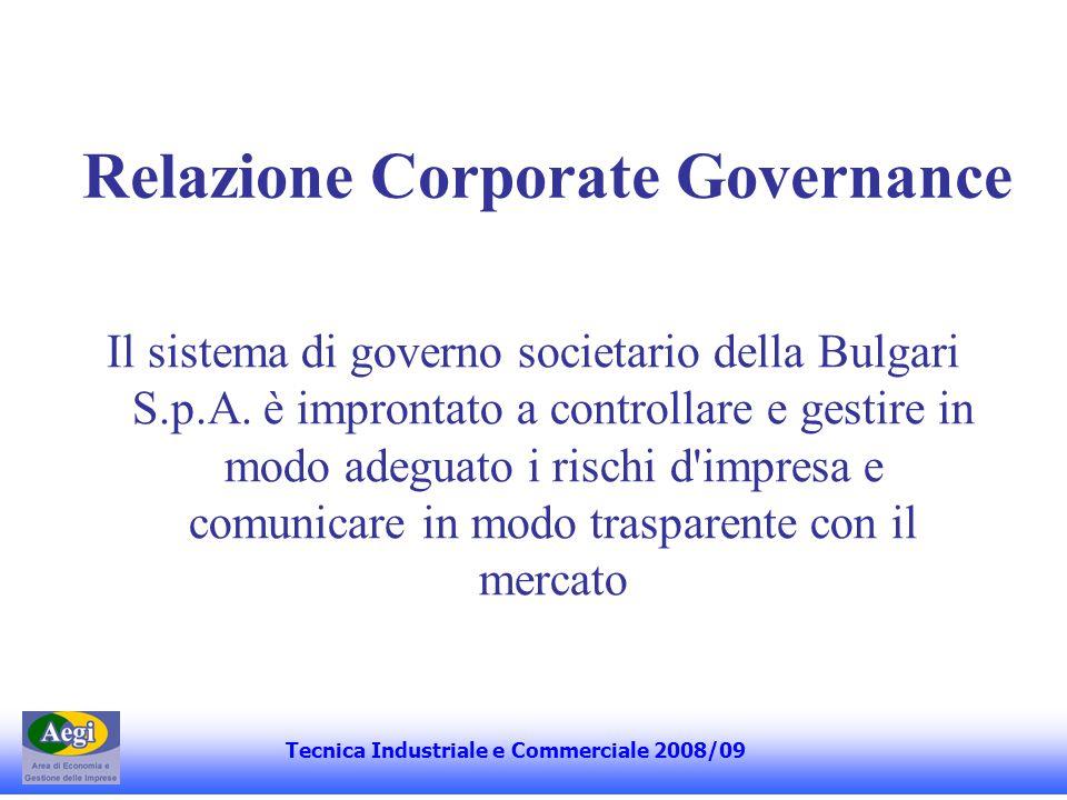 Relazione Corporate Governance Il capitale sociale della Bulgari S.p.A.