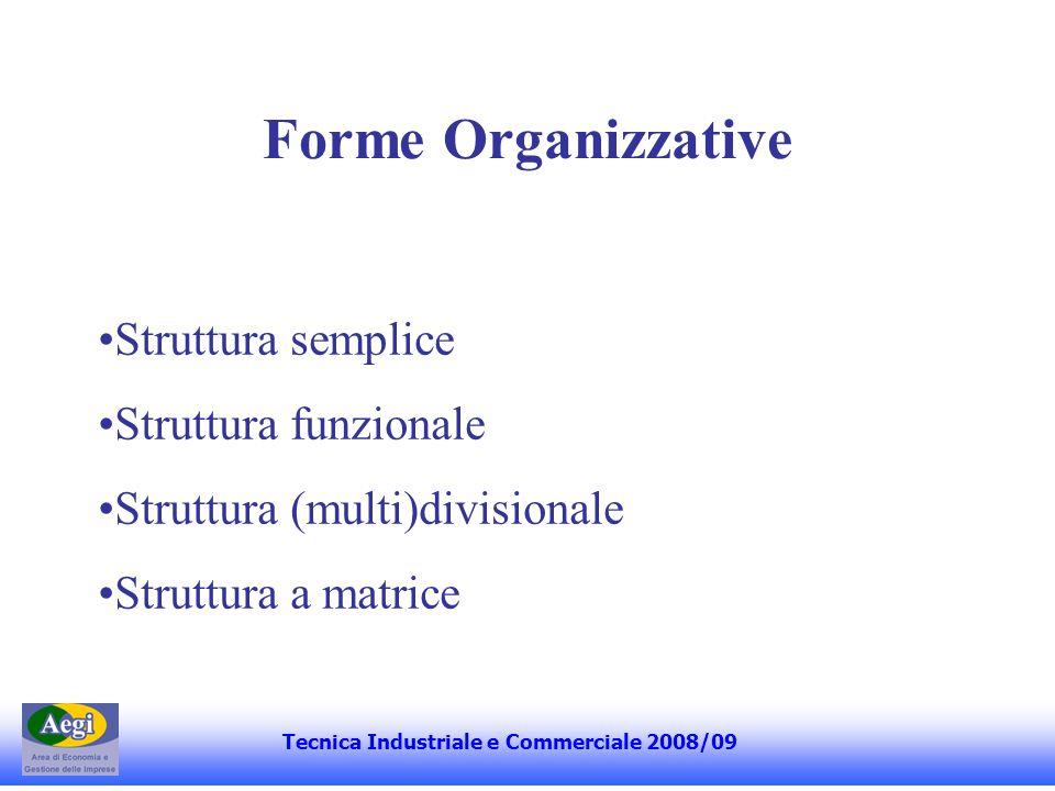 I Esercitazione Tecnica Industriale e Commerciale 2008/09 Gli strumenti di Corporate Governance