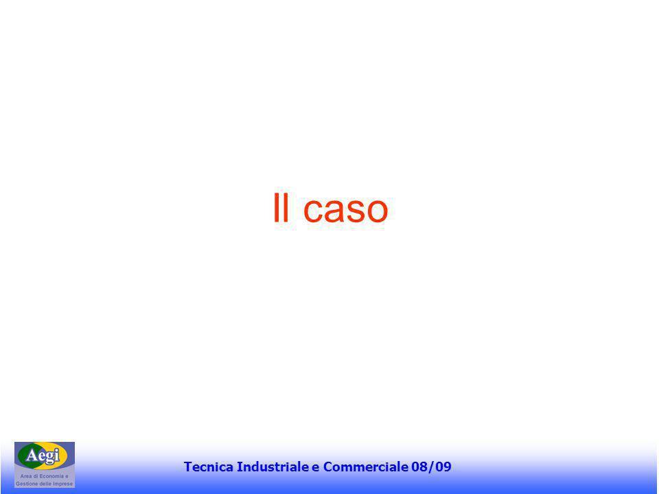 Tecnica Industriale e Commerciale 08/09 Il caso
