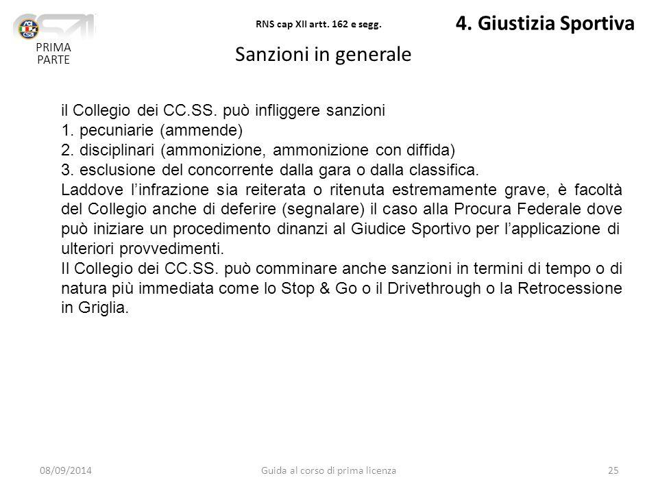 08/09/2014Guida al corso di prima licenza25 4.