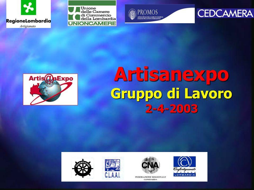 Artisanexpo Gruppo di Lavoro 2-4-2003