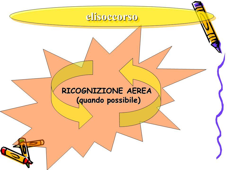 elisoccorsoelisoccorso RICOGNIZIONE AEREA (quando possibile)