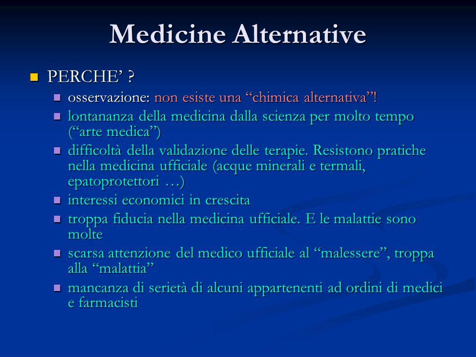 """Medicine Alternative PERCHE' ? PERCHE' ? osservazione: non esiste una """"chimica alternativa""""! osservazione: non esiste una """"chimica alternativa""""! lonta"""