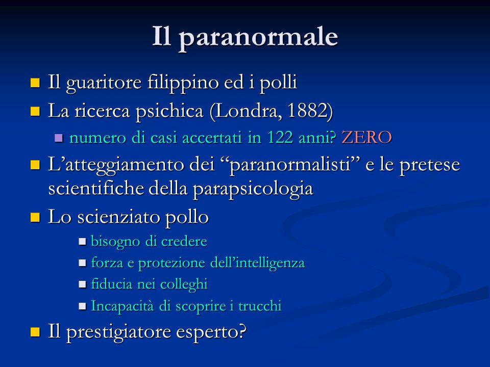 Il paranormale Il guaritore filippino ed i polli Il guaritore filippino ed i polli La ricerca psichica (Londra, 1882) La ricerca psichica (Londra, 188