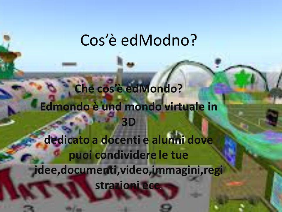 Cos'è edModno.Che cos'è edMondo.