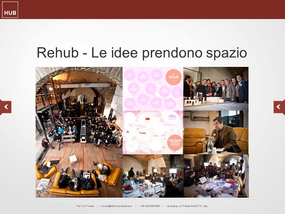 Rehub - Le idee prendono spazio The Hub Trieste | m.svara@thehubtrieste.com | +39 349 8534930 | via Cavana, 14 Trieste 34100 TS - Italy