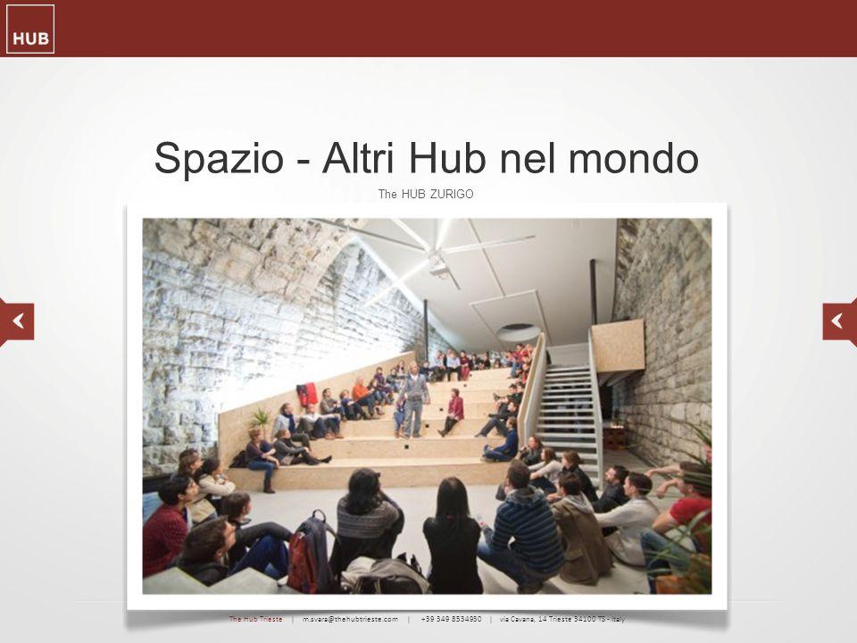 Spazio - Altri Hub nel mondo The HUB ZURIGO The Hub Trieste | m.svara@thehubtrieste.com | +39 349 8534930 | via Cavana, 14 Trieste 34100 TS - Italy