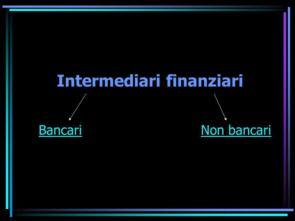 Intermediari finanziari BancariNon bancari