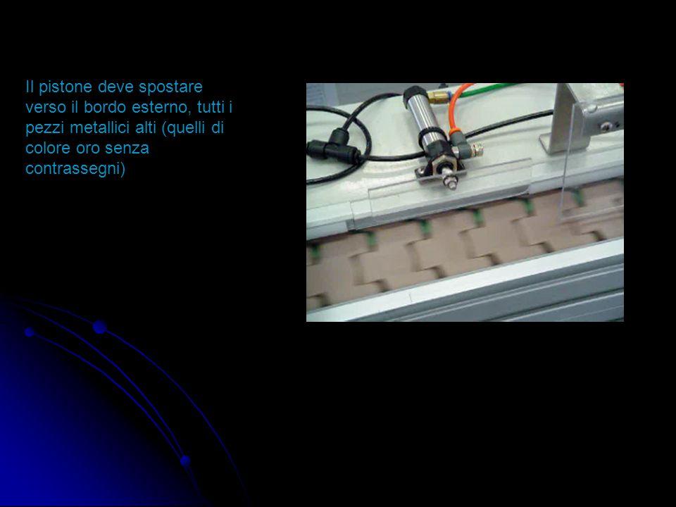 1 3 Il sensore induttivo 1 rileva il passaggio dei soli pezzi metallici alti, essendo tarato con una distanza di rilevazione molto sensibile (circa 1