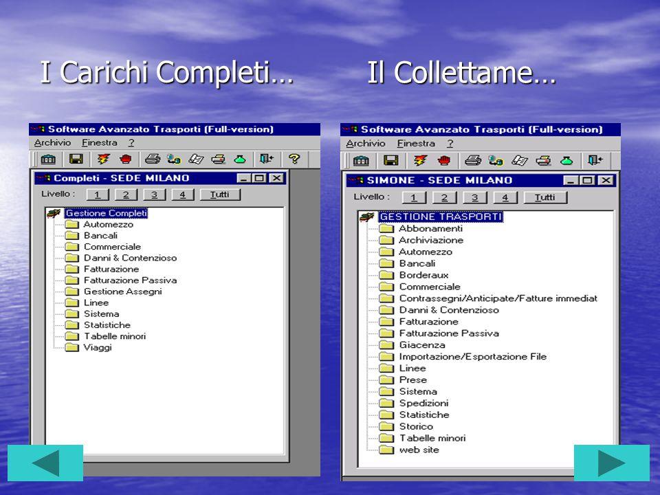 Tutte le soluzioni per… Completisti Completisti Collettamisti Collettamisti Logistica integrata Logistica integrata Contabilità integrata Contabilità integrata
