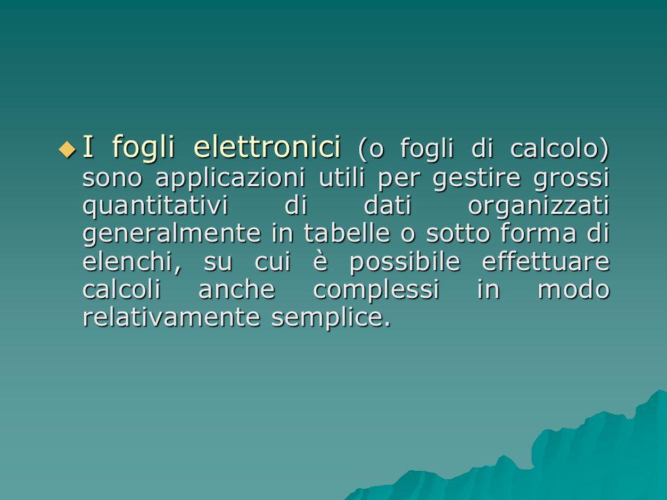 Tipi di formule  Le formule eseguono operazioni come l addizione, la moltiplicazione, il confronto tra valori del foglio di lavoro e anche l unione di valori.