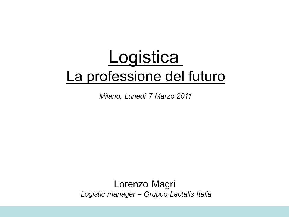 Logistica La professione del futuro Milano, Lunedì 7 Marzo 2011 Lorenzo Magri Logistic manager – Gruppo Lactalis Italia