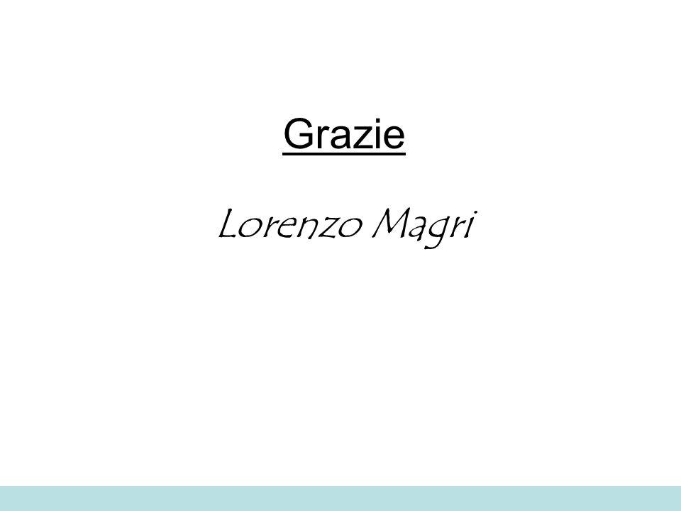 Grazie Lorenzo Magri