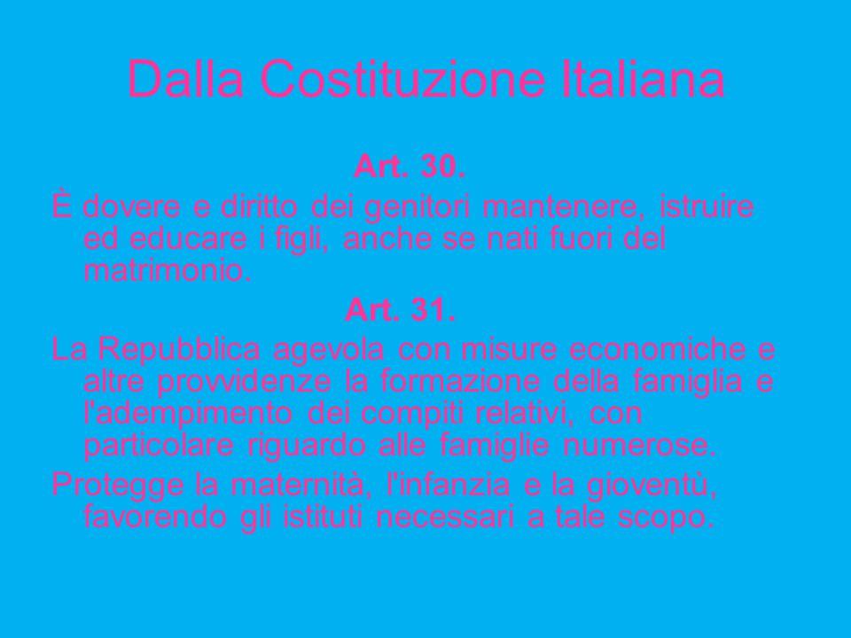 Dalla Costituzione Italiana Art.30.