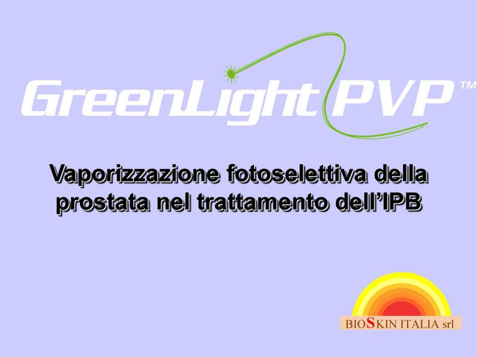 Vaporizzazione fotoselettiva della prostata nel trattamento dell'IPB