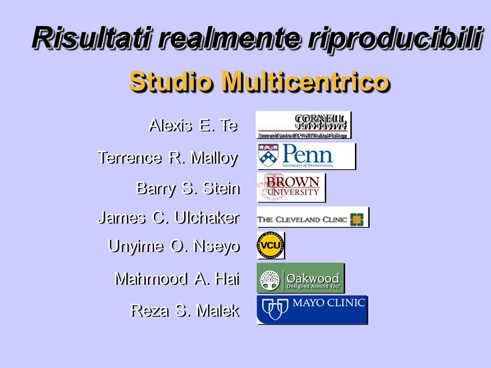 Risultati realmente riproducibili Studio Multicentrico Alexis E.