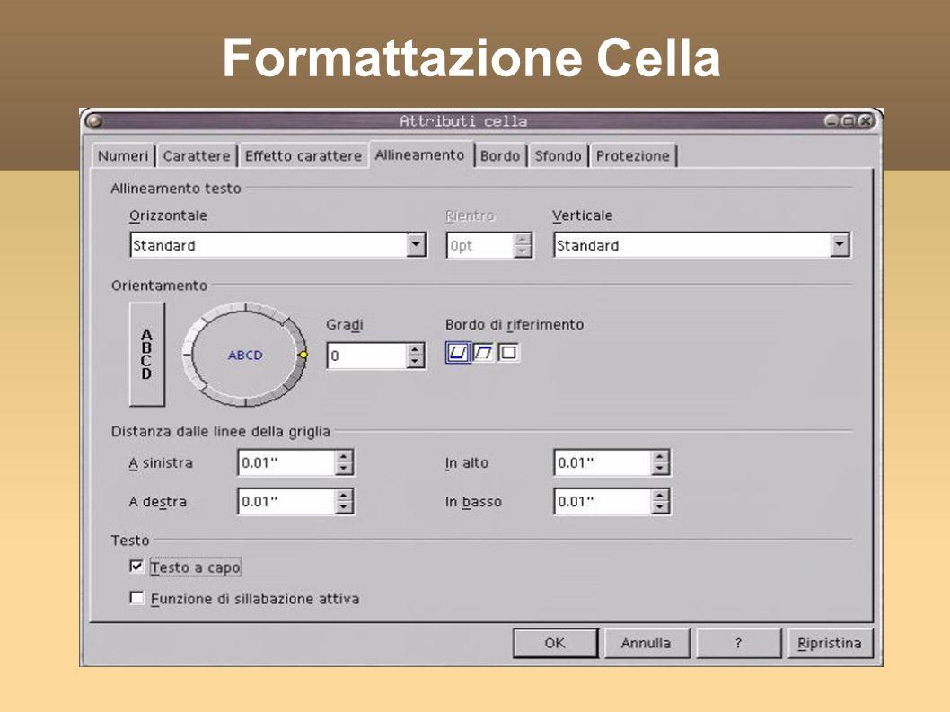 Formattazione Cella
