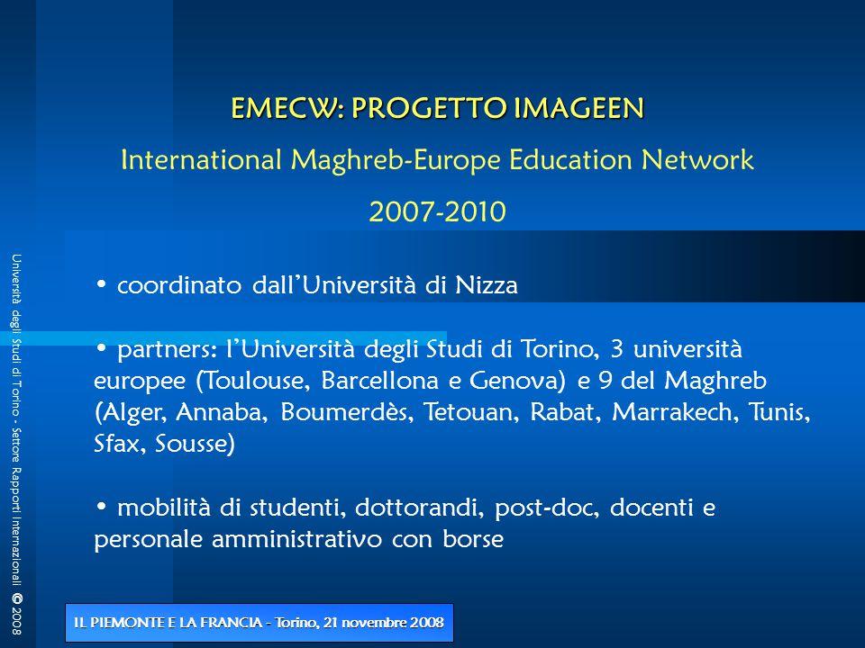 Università degli Studi di Torino - Settore Rapporti Internazionali © 2008 IL PIEMONTE E LA FRANCIA - Torino, 21 novembre 2008 3 - Programmi INTERREG III Iniziativa Comunitaria Programma di cooperazione - ALCOTRA 2000/2006 I monti nati dal mare Prof.