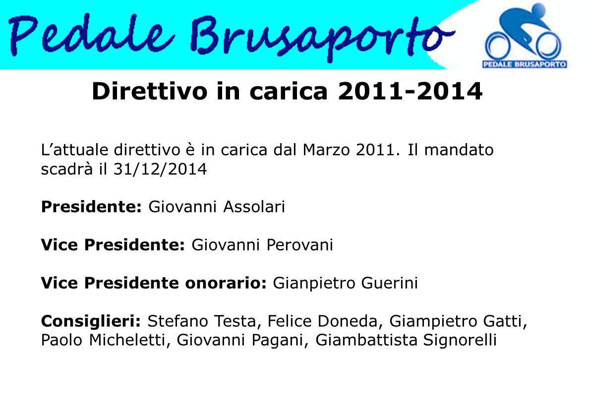 Direttivo in carica 2011-2014 L'attuale direttivo è in carica dal Marzo 2011.