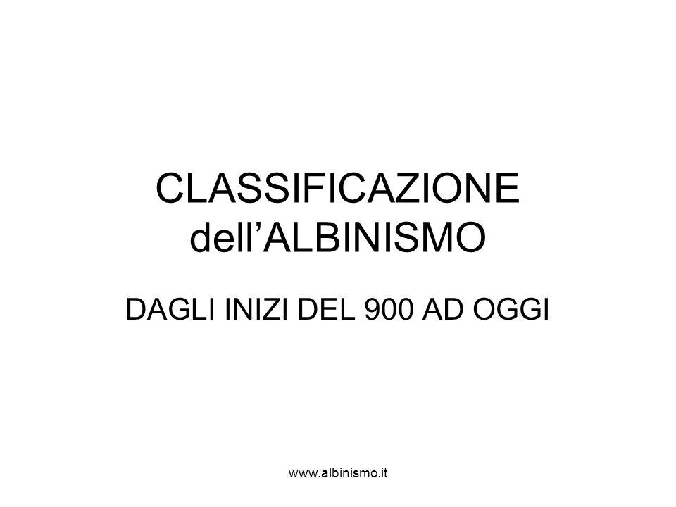 www.albinismo.it CLASSIFICAZIONE dell'ALBINISMO DAGLI INIZI DEL 900 AD OGGI