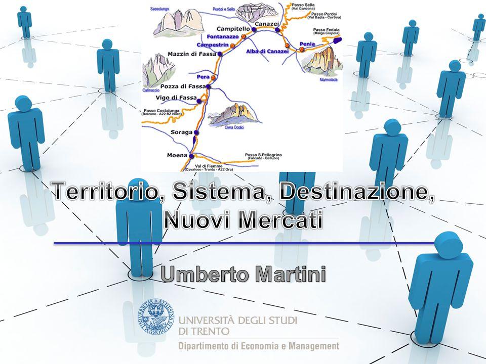 Territorio, Sistema, Destinazione, Nuovi Mercati 3 aprile 2014 Umberto Martini Sintonia col mercato globale 12