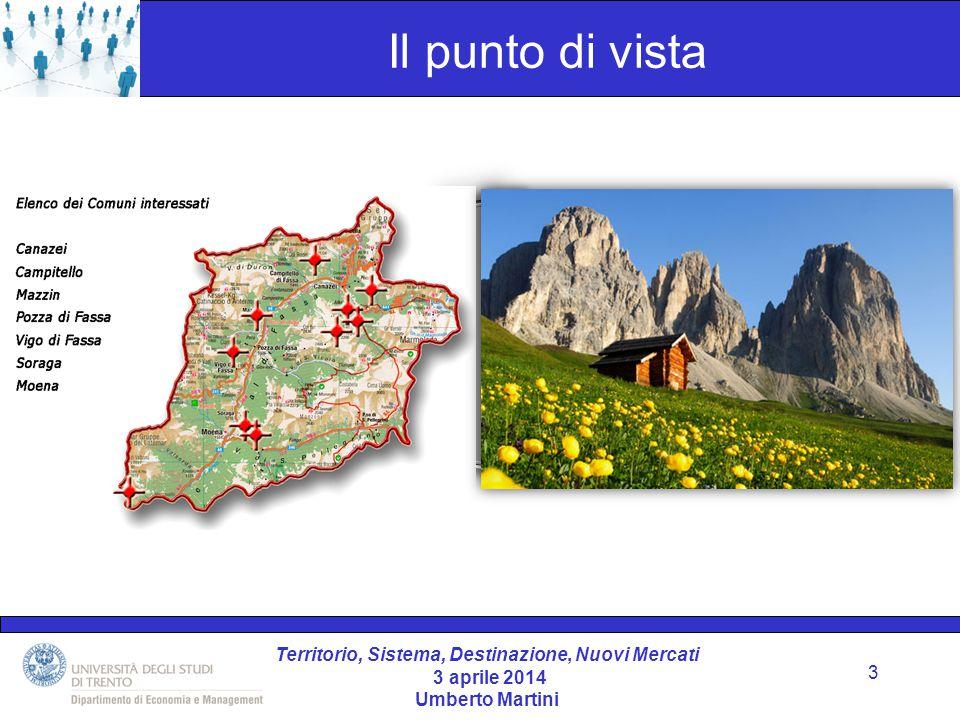 Territorio, Sistema, Destinazione, Nuovi Mercati 3 aprile 2014 Umberto Martini Cos'è una zona turistica.