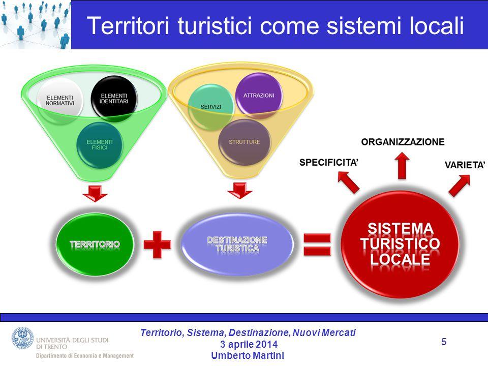 Territorio, Sistema, Destinazione, Nuovi Mercati 3 aprile 2014 Umberto Martini 2.