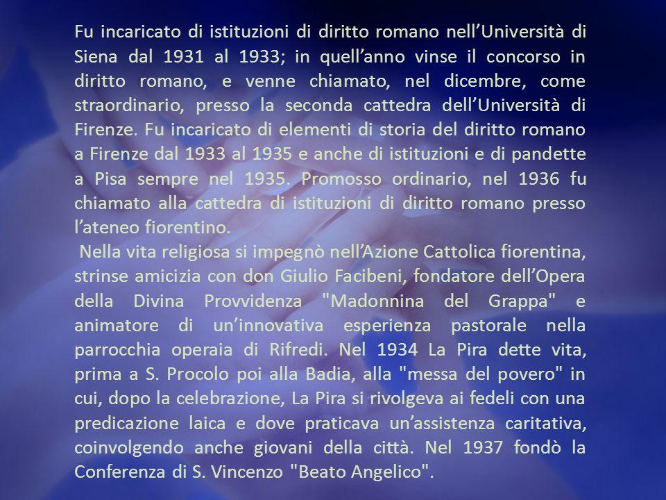 Fu incaricato di istituzioni di diritto romano nell'Università di Siena dal 1931 al 1933; in quell'anno vinse il concorso in diritto romano, e venne chiamato, nel dicembre, come straordinario, presso la seconda cattedra dell'Università di Firenze.