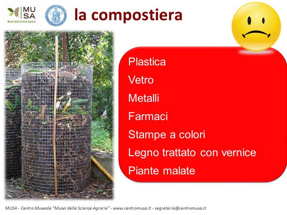 """MUSA - Centro Museale """"Musei delle Scienze Agrarie"""" - www.centromusa.it - segreteria@centromusa.it la compostiera Plastica Vetro Metalli Farmaci Stamp"""