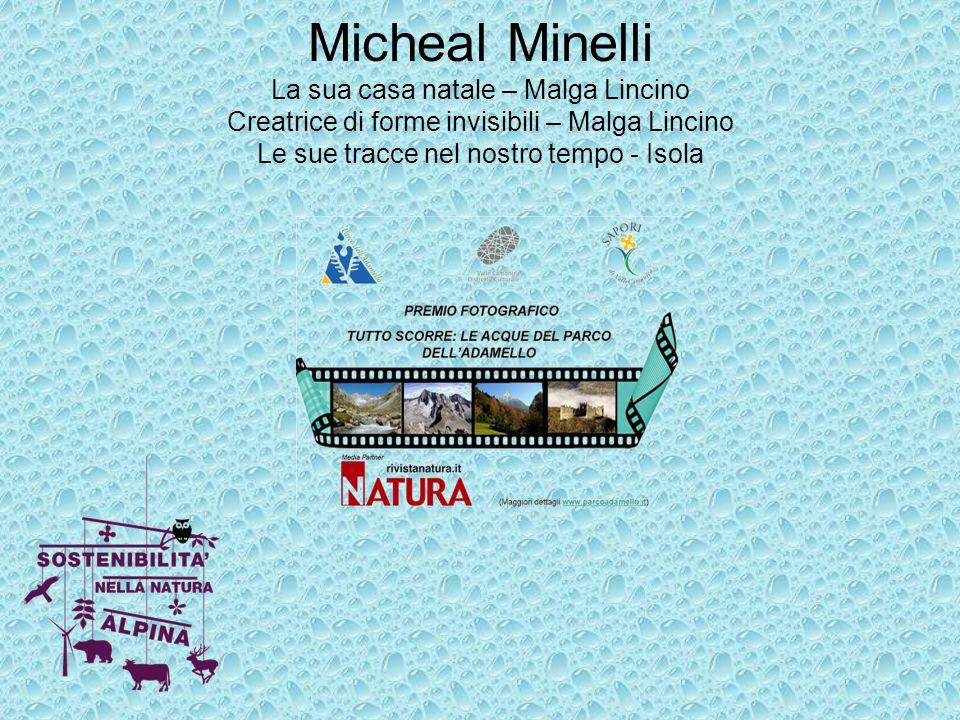 Micheal Minelli La sua casa natale – Malga Lincino Creatrice di forme invisibili – Malga Lincino Le sue tracce nel nostro tempo - Isola