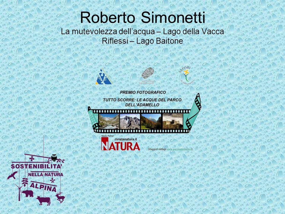 Roberto Simonetti La mutevolezza dell'acqua – Lago della Vacca Riflessi – Lago Baitone