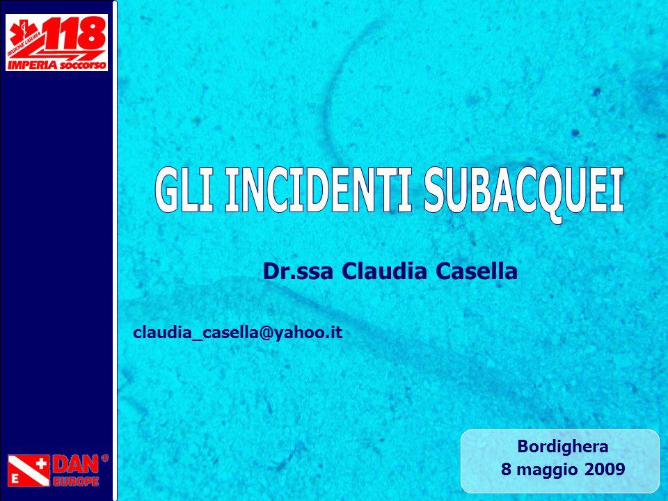 Bordighera 8 maggio 2009 Dr.ssa Claudia Casella claudia_casella@yahoo.it