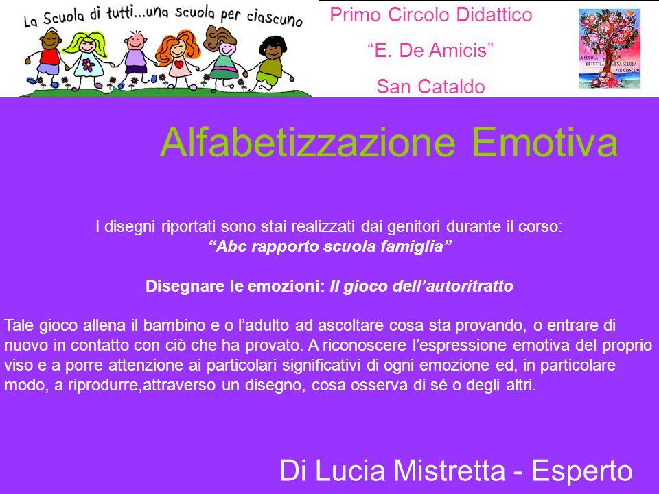 """Alfabetizzazione Emotiva I disegni riportati sono stai realizzati dai genitori durante il corso: """"Abc rapporto scuola famiglia"""" Disegnare le emozioni:"""
