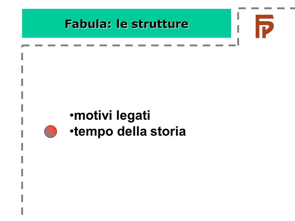 Fabula: le strutture •motivi legati •tempo della storia