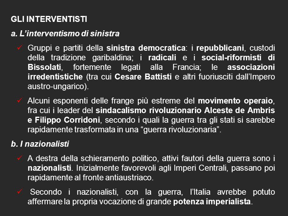 """6. L'INTERVENTO DELL'ITALIA: """"NEUTRALISTI"""" E """"INTERVENTISTI"""" L'Italia entra in guerra nel maggio del 1915, dieci mesi dopo l'inizio del conflitto. Son"""
