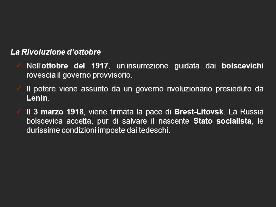 12. LA SVOLTA DEL 1917 La Rivoluzione di febbraio e la caduta dello zar  Sciopero generale degli operai di Pietrogrado  Manifestazioni politiche con