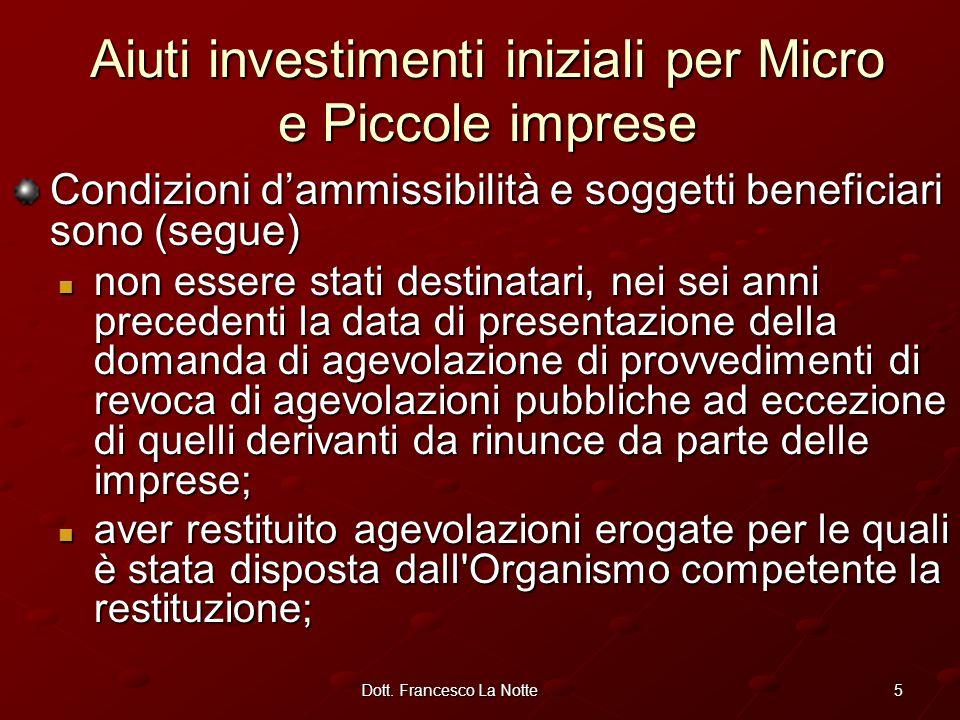 Dott. Francesco La Notte Dottore di Ricerca Università della Basilicata Dipartimento di economia