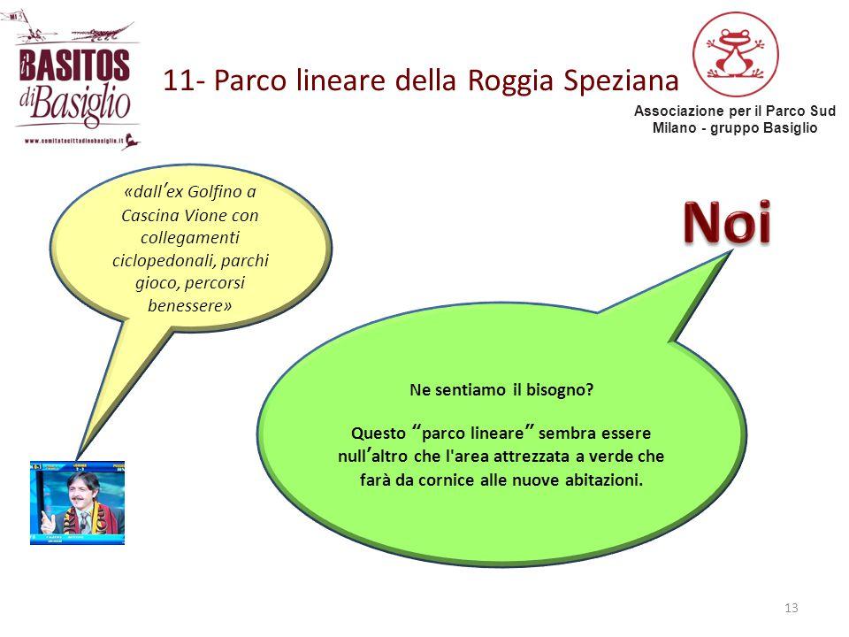 Associazione per il Parco Sud Milano - gruppo Basiglio 11- Parco lineare della Roggia Speziana 13 «dall'ex Golfino a Cascina Vione con collegamenti ci