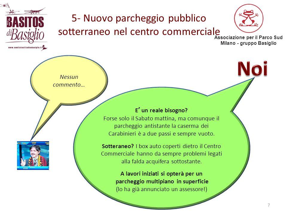 Associazione per il Parco Sud Milano - gruppo Basiglio 6- Riqualificazione dell'illuminazione pubblica… 8 «… in un'ottica di maggiore sostenibilità energetica, ambientale ed economica» L'investimento per il risparmio energetico si «paga da solo» in quanto consente minori spese.