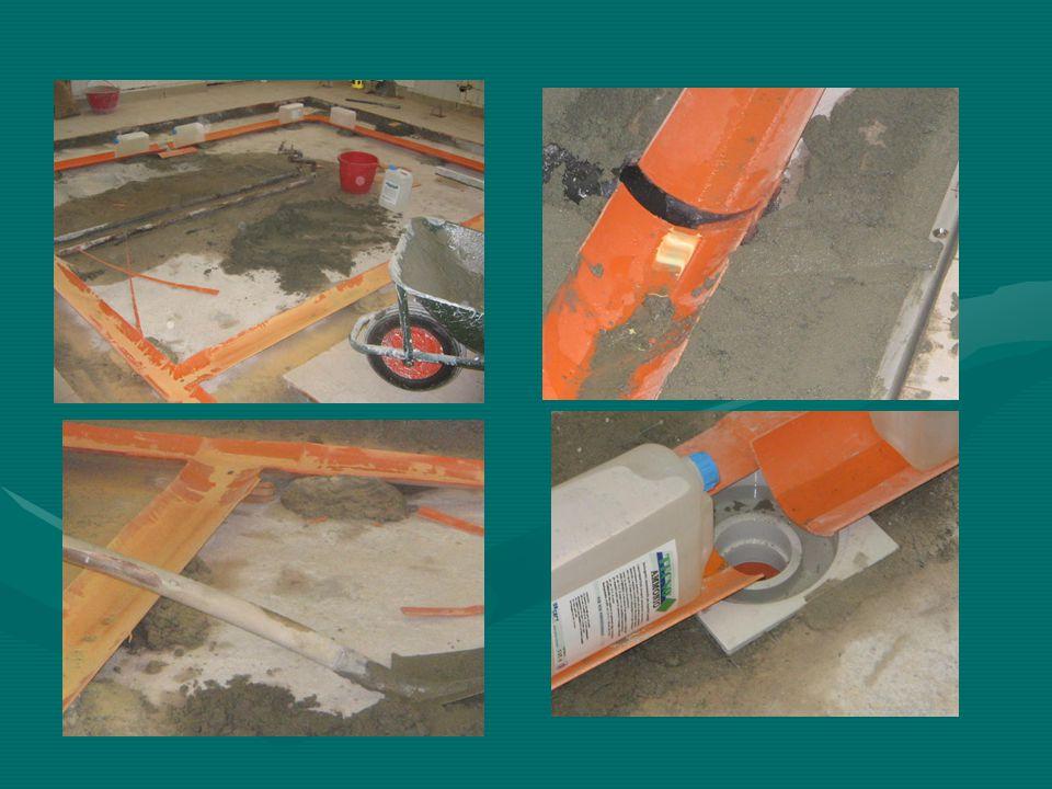 Lavori di demolizione, predisposizione scoli e telai griglie