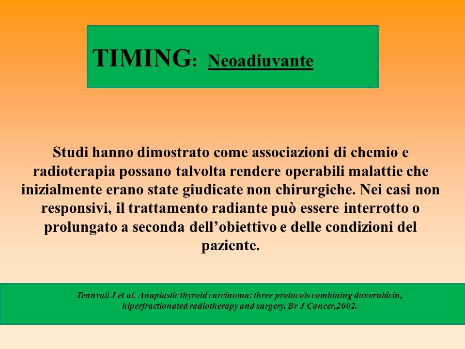Studi hanno dimostrato come associazioni di chemio e radioterapia possano talvolta rendere operabili malattie che inizialmente erano state giudicate n