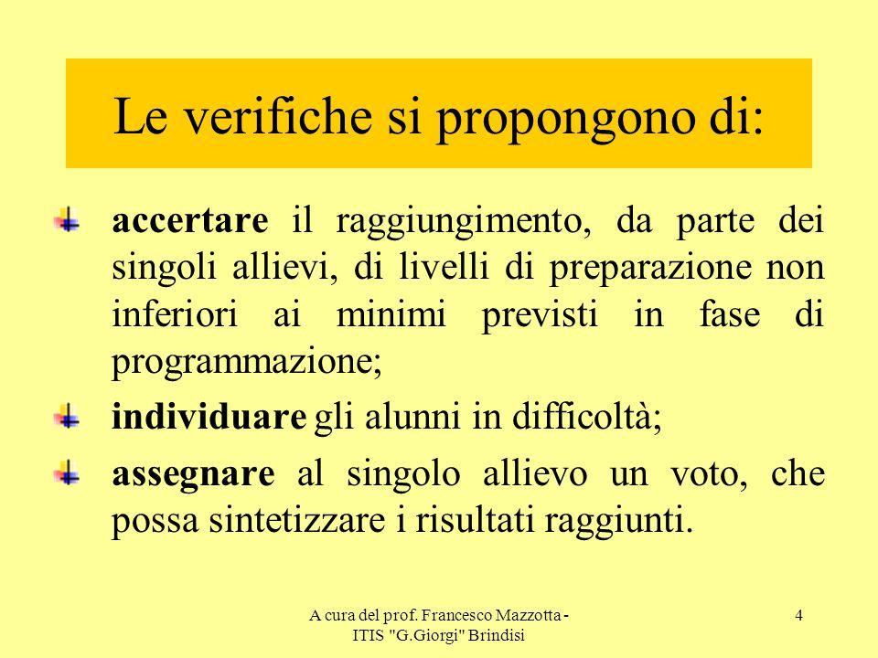 A cura del prof. Francesco Mazzotta - ITIS G.Giorgi Brindisi 34 Rivediamo l'esempio completo…